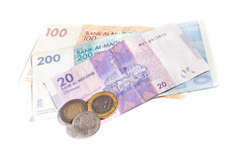 Moroccan dirham currency in Morocco
