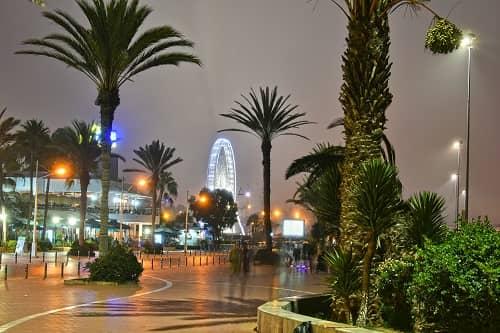 Agadir city at night
