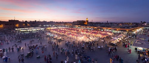 Marrakech medina and jemaa el fna
