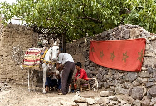 Imlil high atlas mountains traditional life
